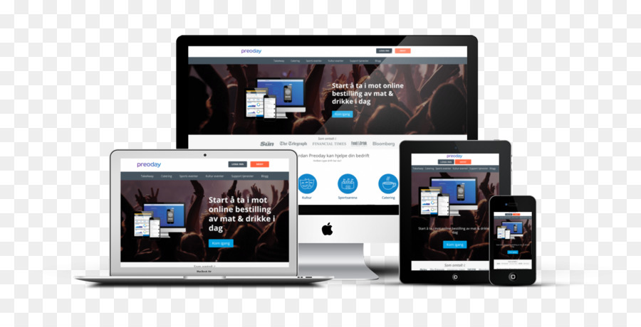 Responsive web design Business Multimedia Website - Business png - Responsive Media