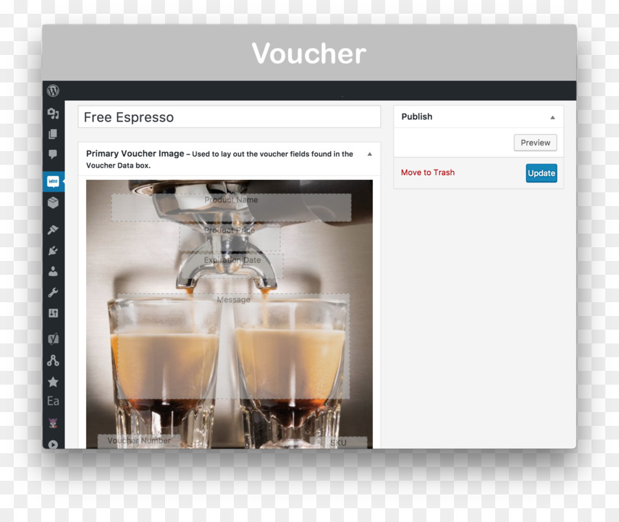 Gift card Espresso Machines WooCommerce Product design - gift