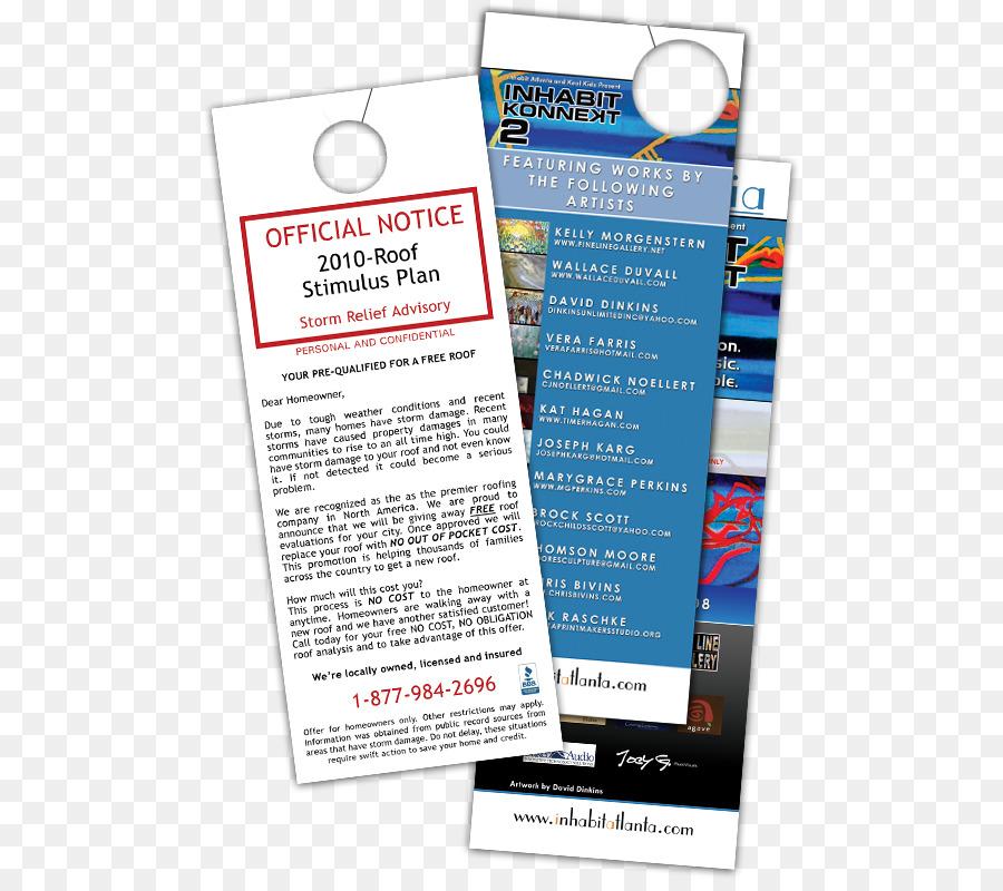 Advertising Door hanger Appeal Design - door hanger png download