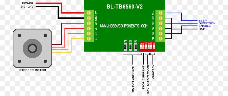 Stepper motor Wiring diagram Device driver Arduino - robot circuit