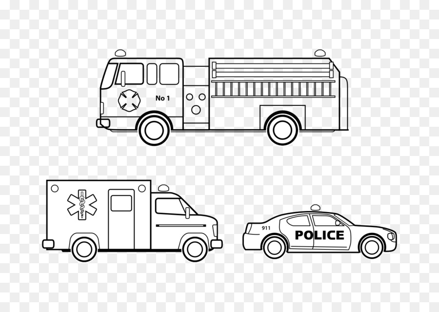 Car Colouring Pages Emergency vehicle Coloring book - car png