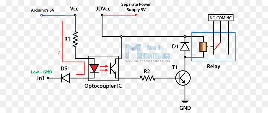 Relay Electronic circuit Wiring diagram Arduino Circuit diagram