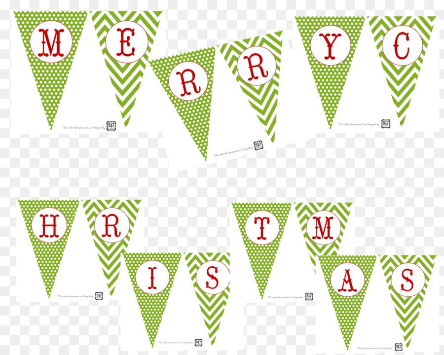 Christmas Day Holiday Christmas card Garland Banner - Merry