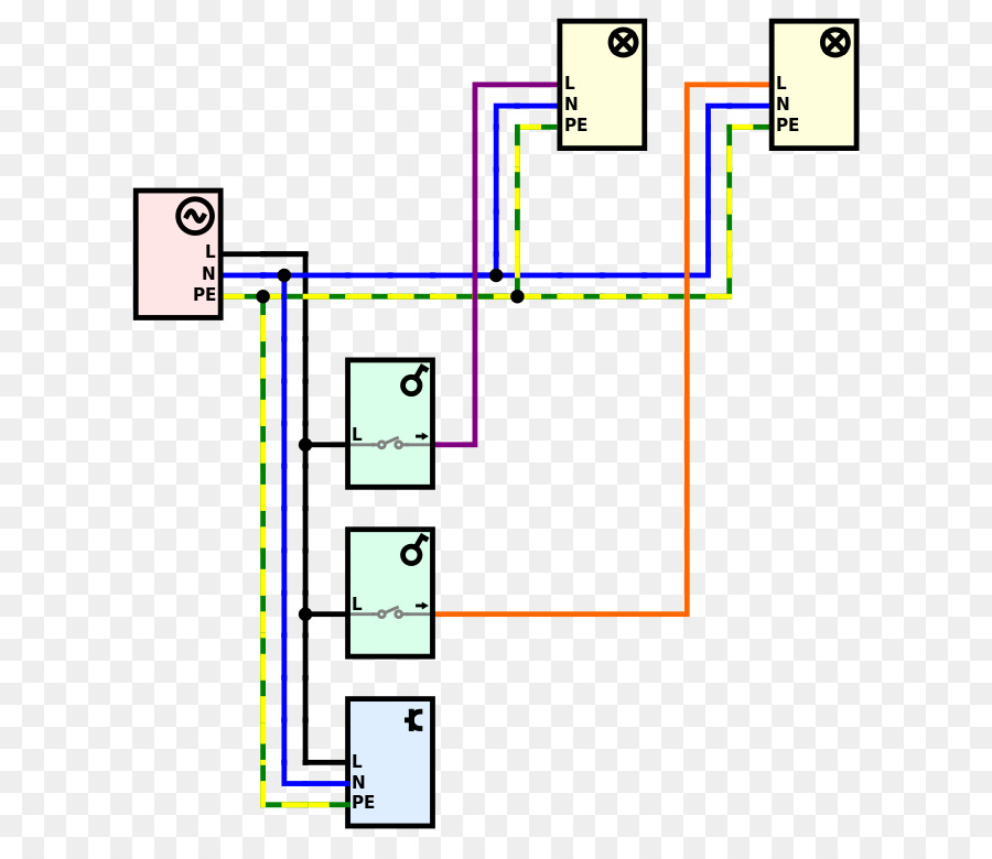 Electrical Switches Lamp Multiway switching Wiring diagram Light