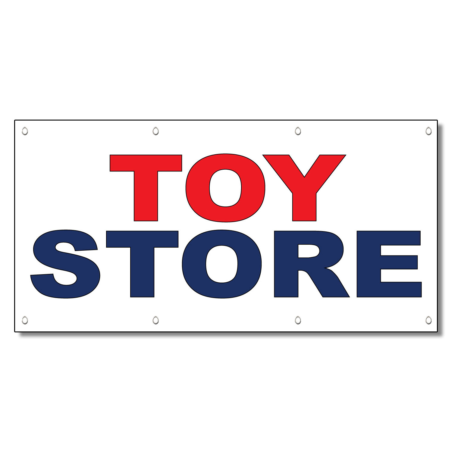 Amazon Store Banne Toy Store Red Blue 13 Oz Vinyl Banner Sign With Grommets
