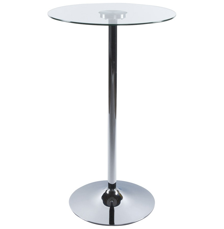 Table Bistrot Inox Table Haute De Restaurant Design Ronde Verre Ii Verre Et Métal Table Haute De Restaurant Design Ronde