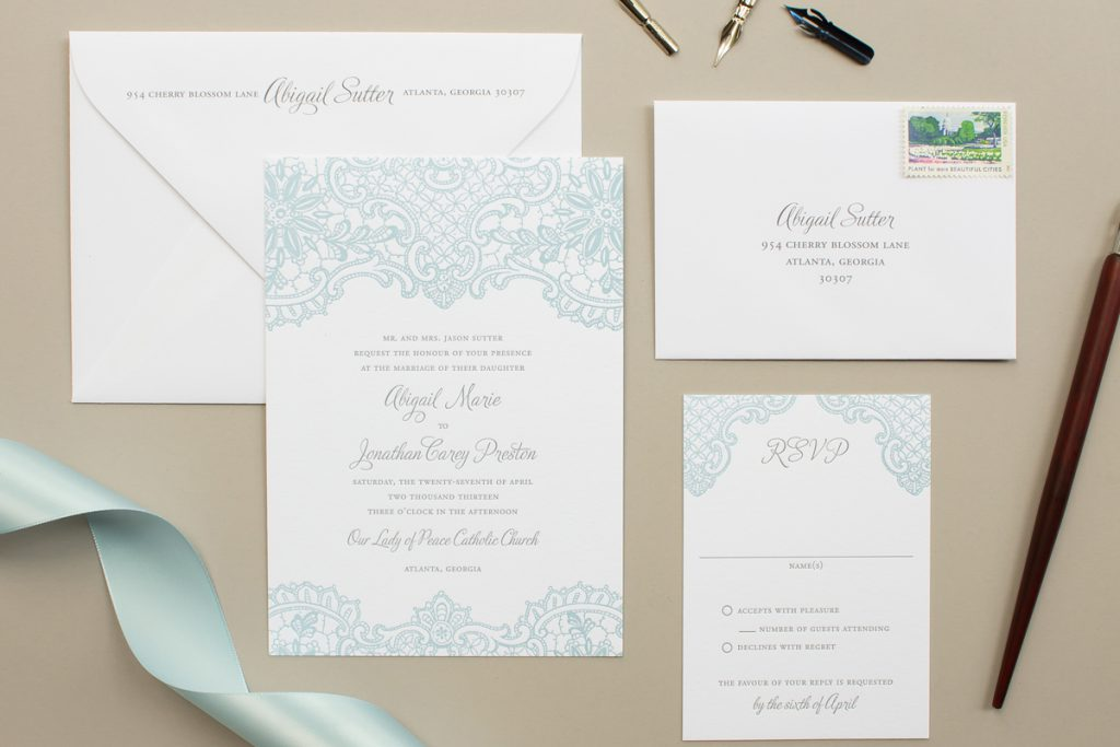 Samples of Personalized Wedding Invitations - Banter and Charm