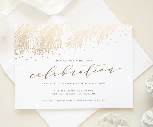 Holiday Party Invitations 2016 Holiday Collection - Banter and Charm