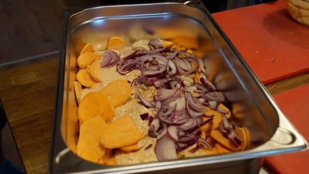 Süßkartoffel-Gratin