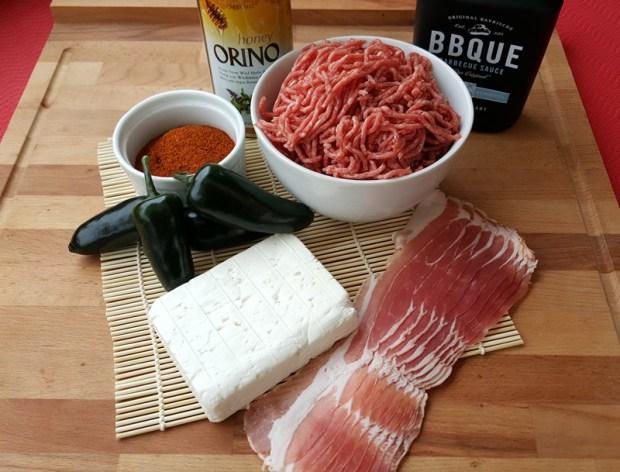 Zutaten für das BBQ Sushi