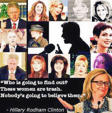 Hillary trashed her husband's victims.