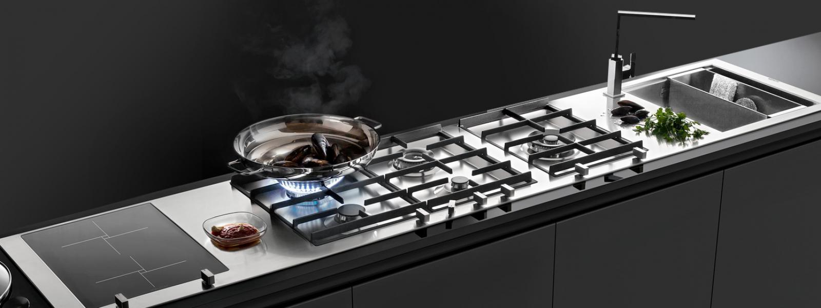 Peninsula Or Island Type Kitchen Kitchen Appliances: Ovens, Hobs, Sinks And Bowls