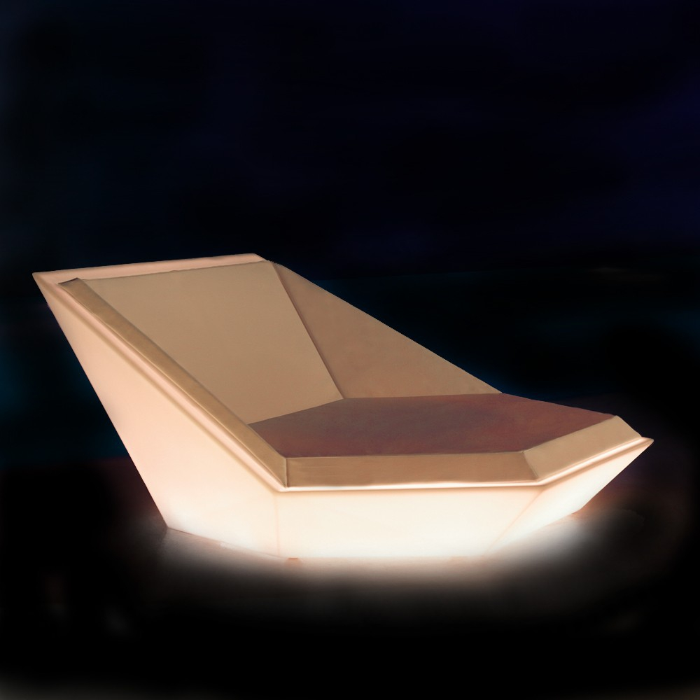Lit Original Faz Daybed With White Led Light By Vondom
