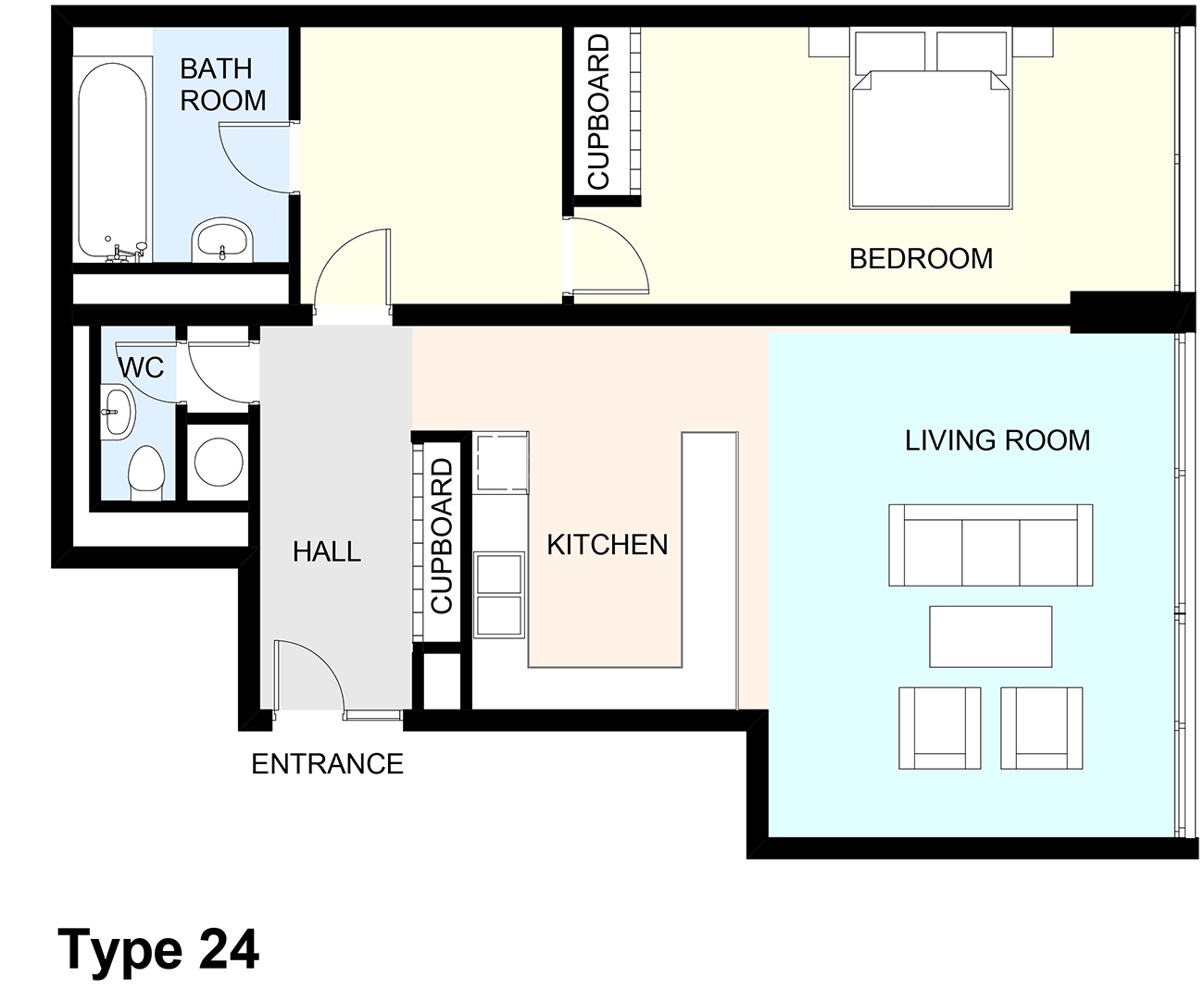 Flat Plan Mountjoy House Flat Plans Barbican Living