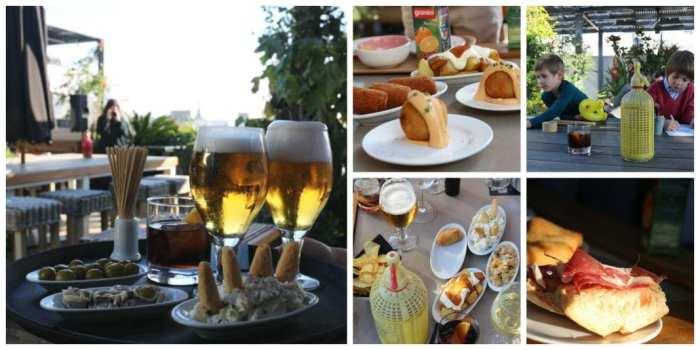 aperitivo con niños terraza hotel Pulitzer