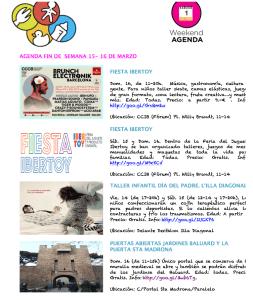 Planes con niños en Barcelona Agenda