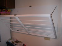 Wall Mounted Laundry Drying Rack  Barefooting Outside the Box