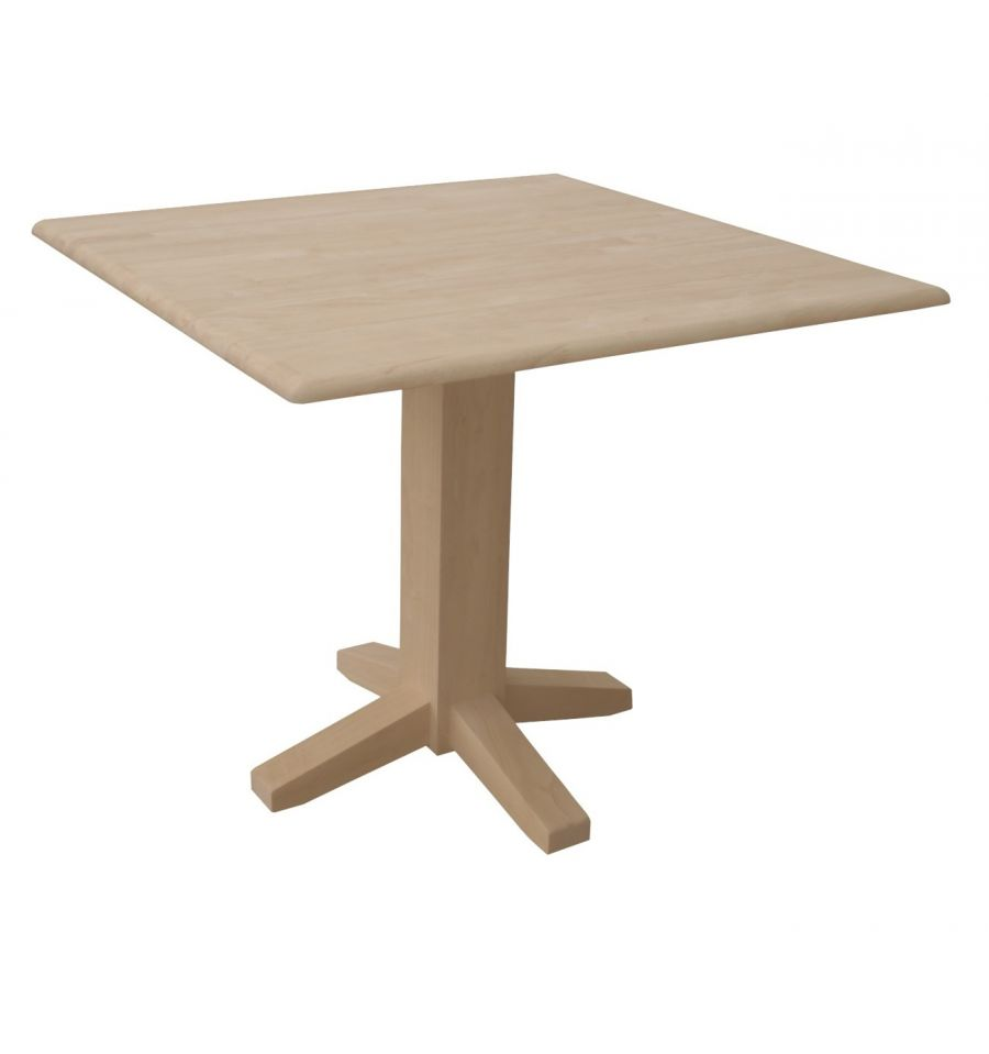 [36 Inch] Square Dropleaf Dining Table