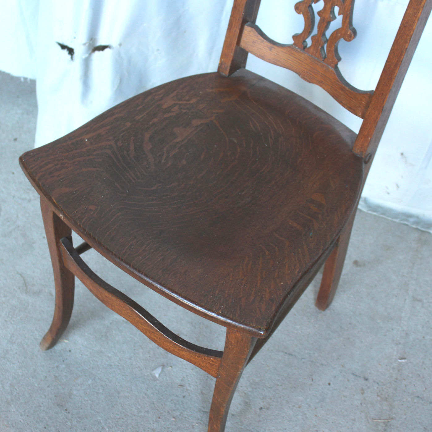 Oak Vanity Chair Bargain John 39s Antiques Antique Quarter Sawn Oak Vanity
