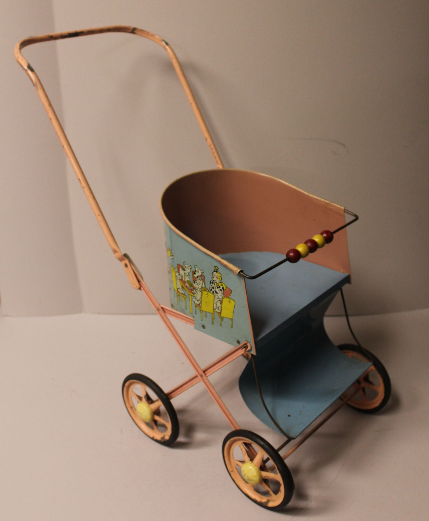 Vintage Toy Stroller Bargain John S Antiques Antique Tin Folding Handle Doll