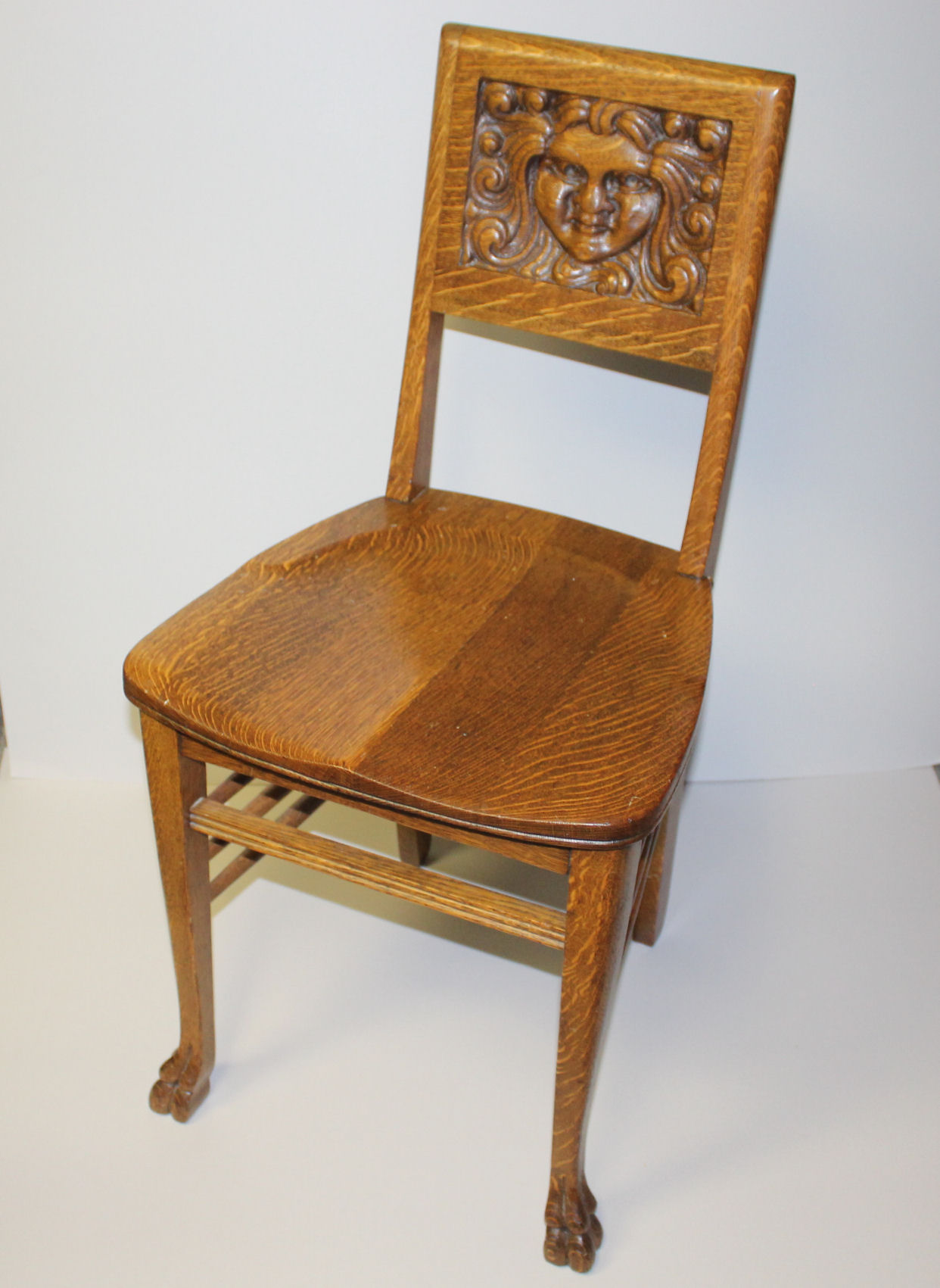 Oak Vanity Chair Bargain John 39s Antiques Antique Oak Vanity Or Small