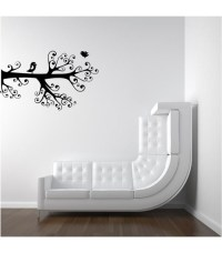Love birds on the branch romantic wall art sticker, wall ...