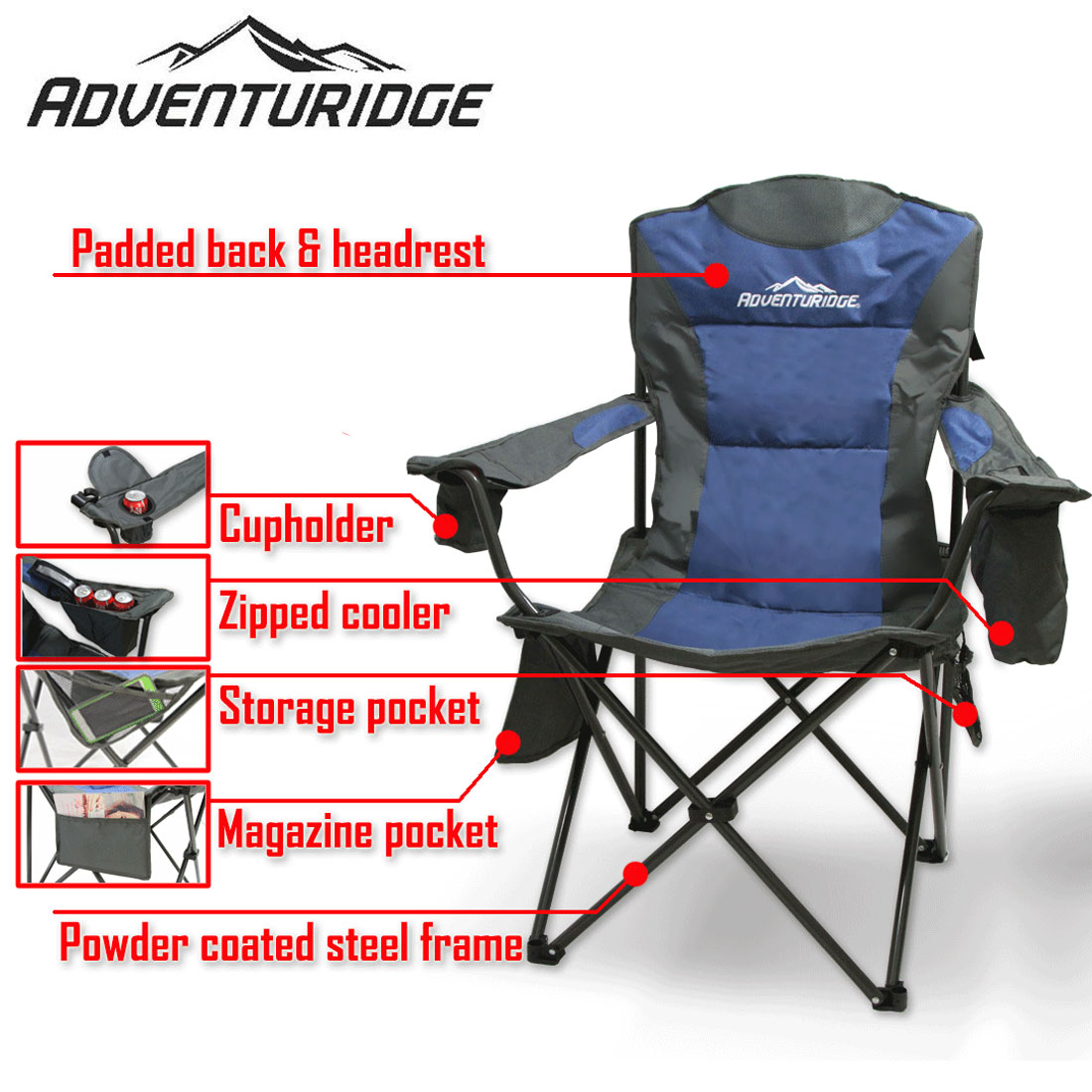 Camping Stores Wollongong Foldable Folding Camping Chair Retreat Beach Outdoor