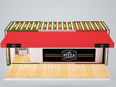 pizzeria container