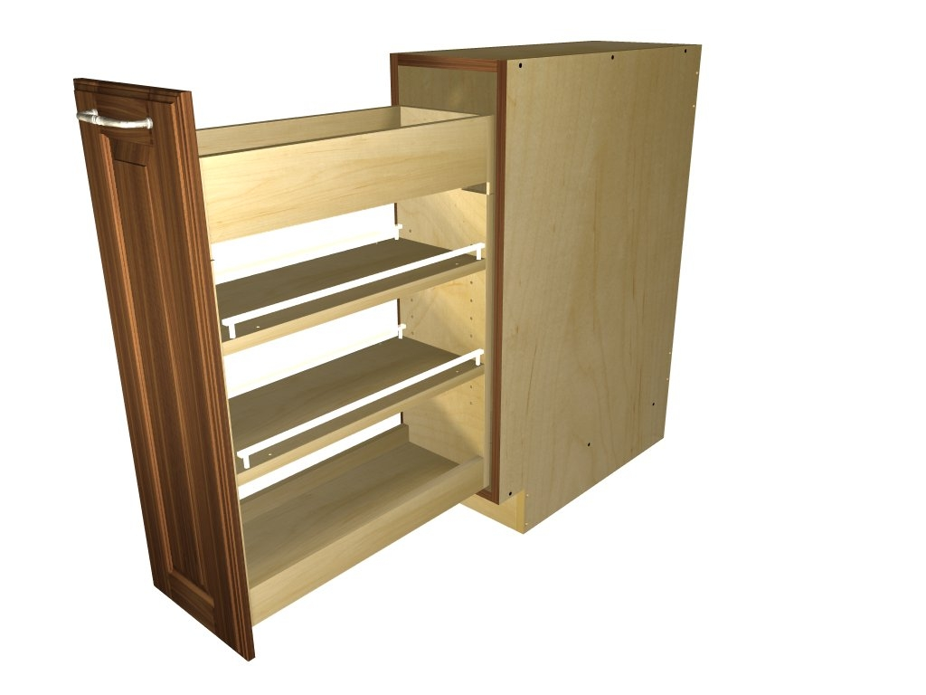 Door Mounted Pull Out Bin Pullout Spice Rack Cabinet