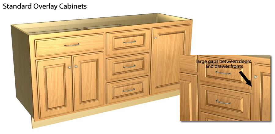 Full Overlay Lower Cabinets Fillers In Kitchen Full Overlay Tutorial