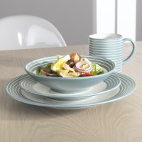 Denby Intro Stripes Duckegg Dinnerware (16 Piece Set)   My CMS