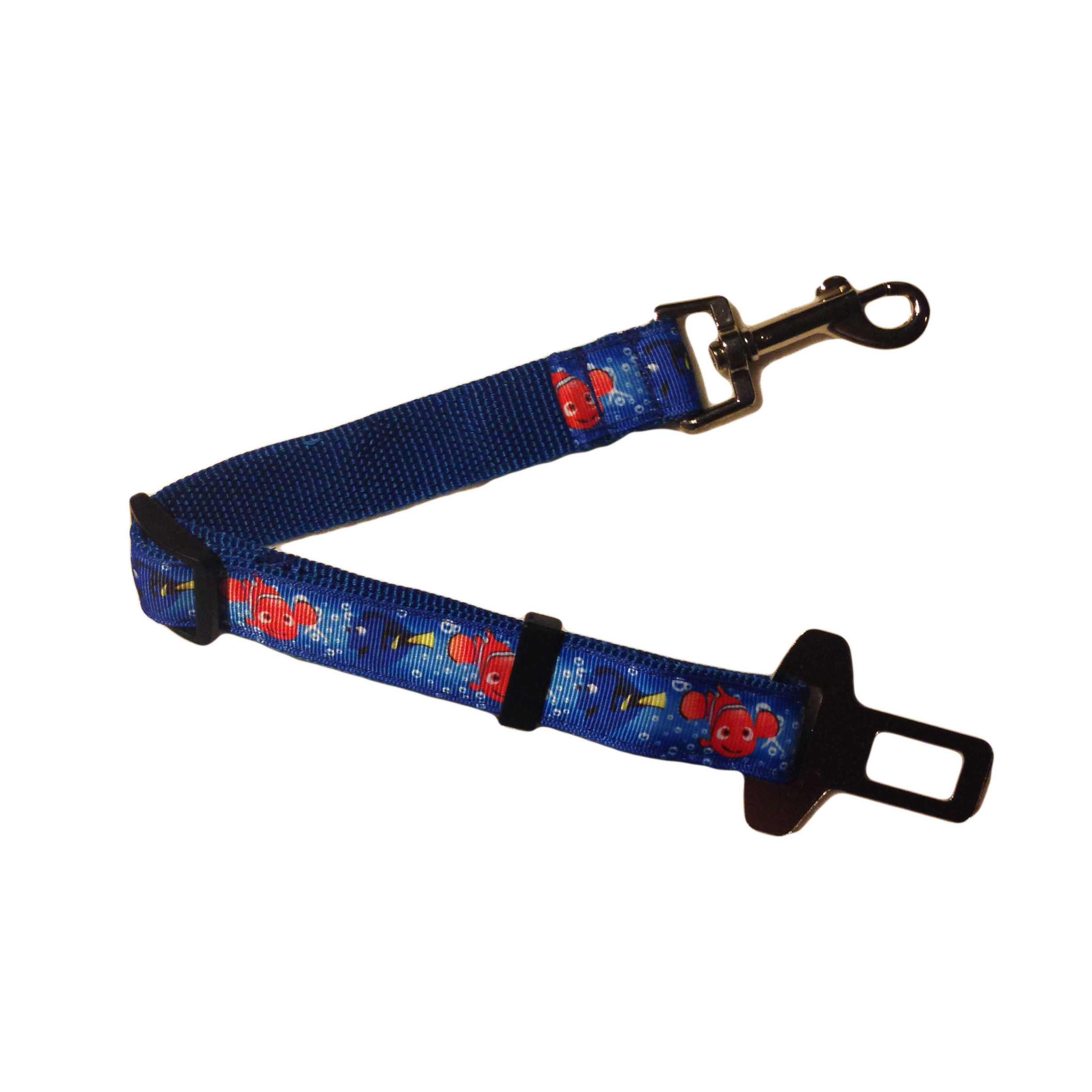 Safety Belt Adjustable Car Safety Belt For Dogs Made From Finding Nemo Fabric