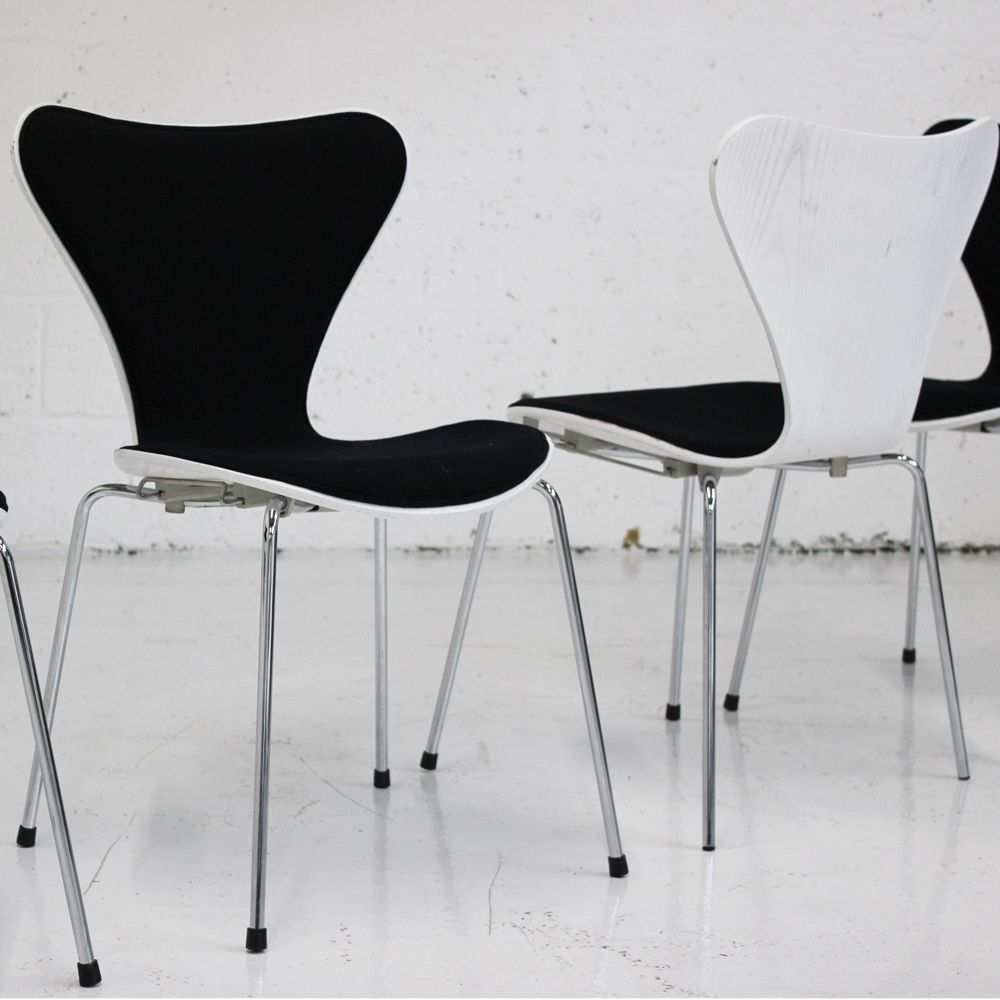 Designer Chairs Used Fritz Hansen Series 7 Front Upholstered