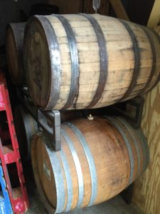 Sour Collab Barrels at a Local Brewery