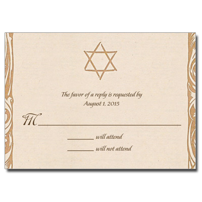 Shop Bar Mitzvah Response Cards  Bat Mitzvah Response Cards - response card examples
