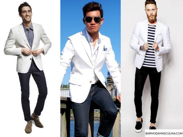 Blazer branco masculino - Como usar? | Bar Moda Masculina