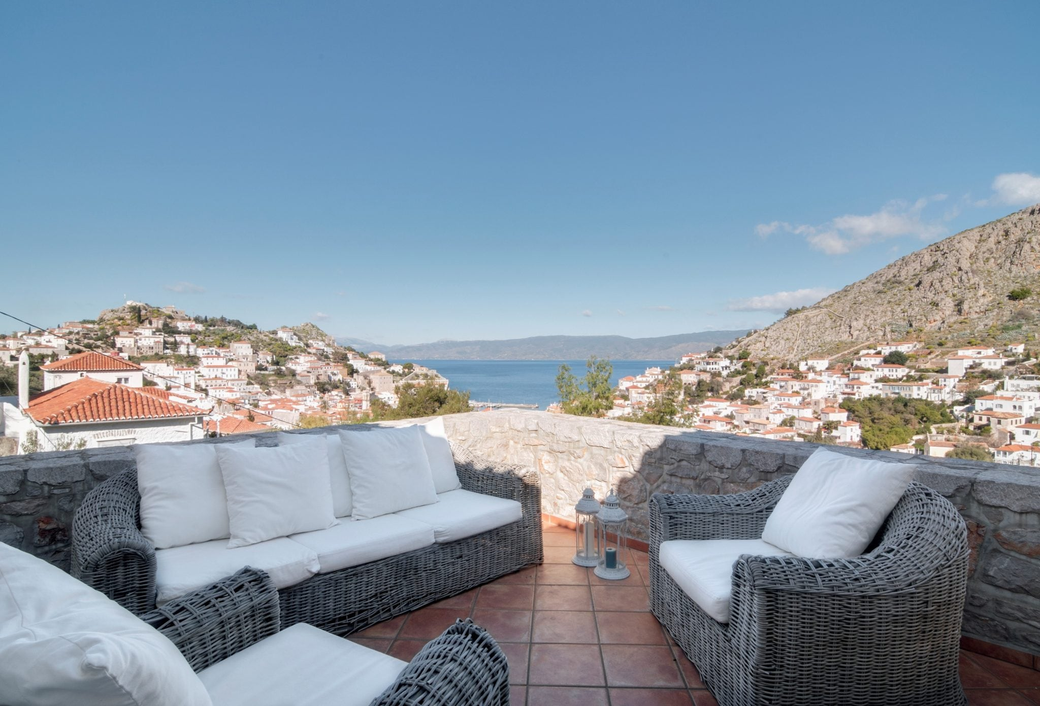 Sofa House Greece Gracious Stone Villa Hydra Luxury Homes For Sale Hydra