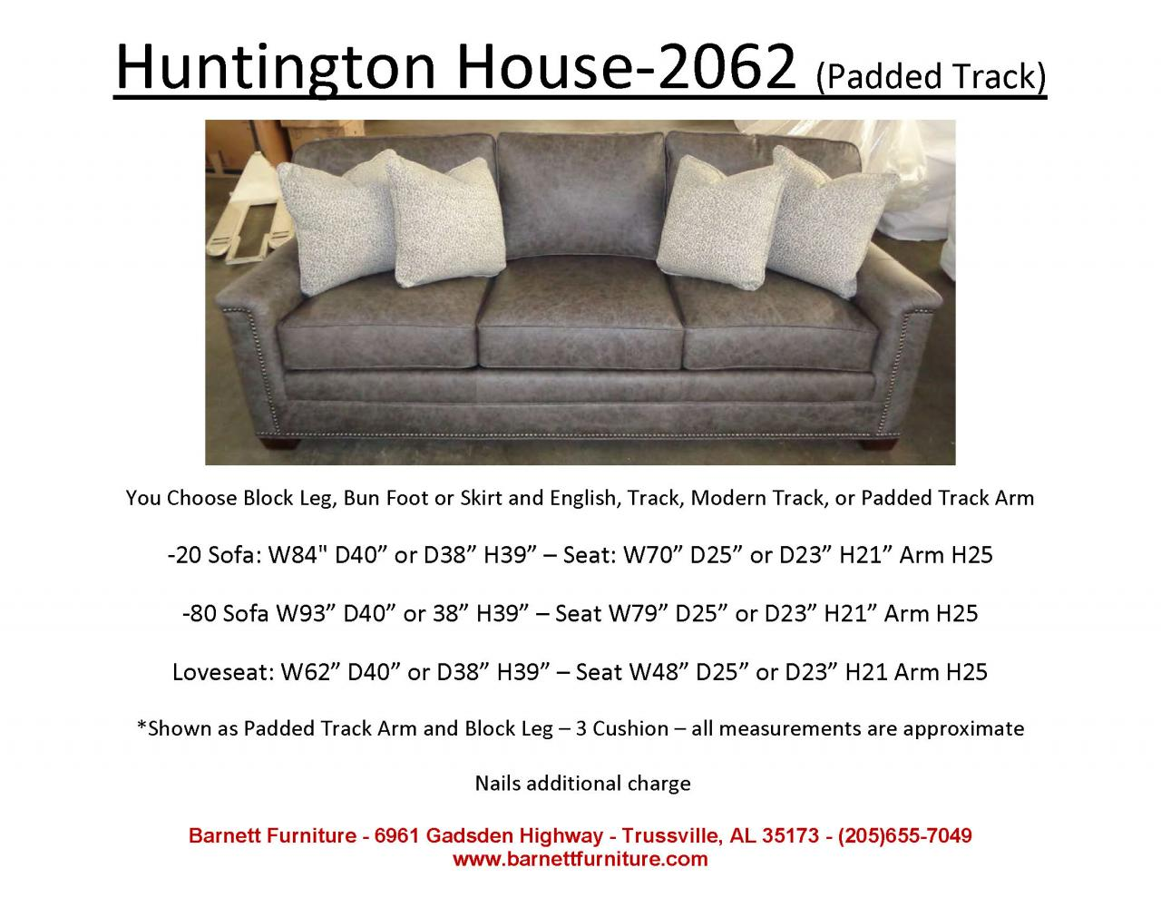 Huntington House Furniture Quality Barnett Furniture Larger Sofas90