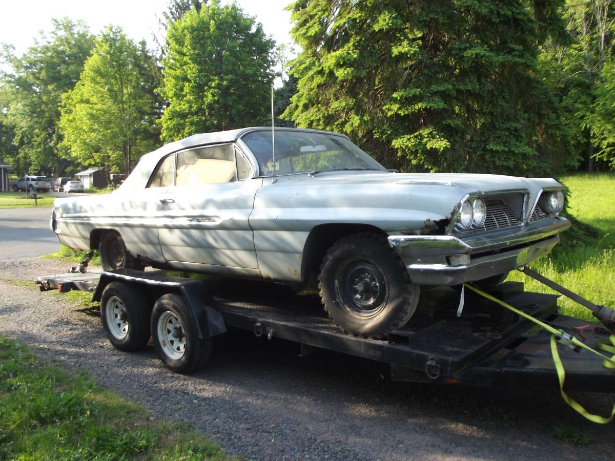 But Convertible Rare But Rusty 1961 Pontiac Convertible