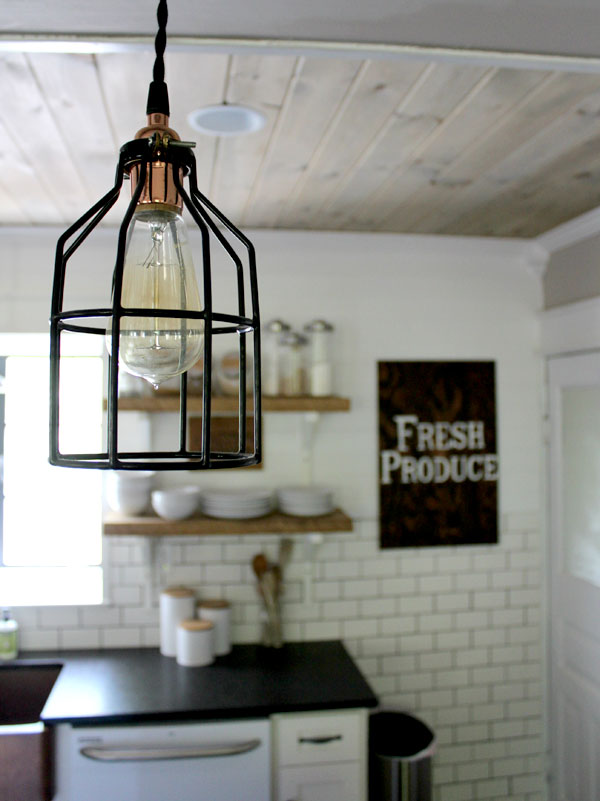 Ceiling Fan With Good Lighting Minimalist Copper Cage Pendant | Barn Light Electric