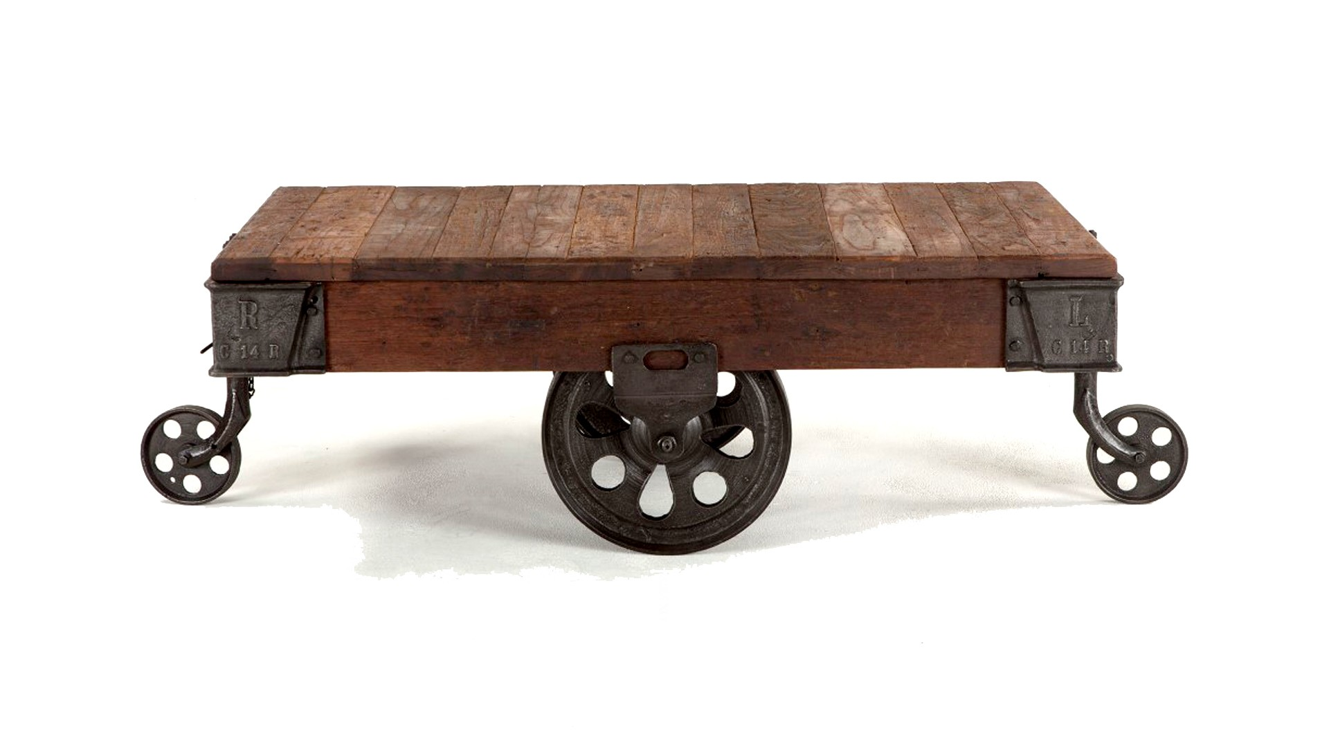 Table On Wheels Industrial Coffee Table Wheels