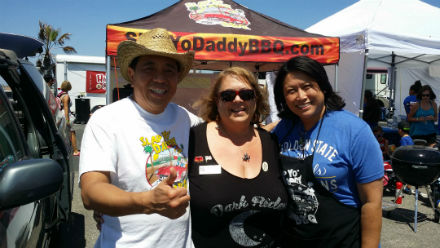 Harry Soo of Slap 'Yo Daddy and Donna Fong of Butcher's Daughter. So many comp wins between these two pitmasters.