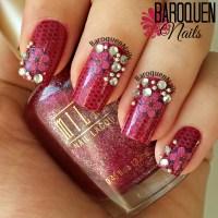 Natural Nail Art Of The Week  Gltzy Glam | Baroquen Nails