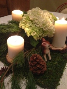 Christmas Woodland Centerpiece
