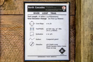 Trail access information plaque