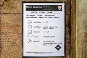 Trail access information plaque