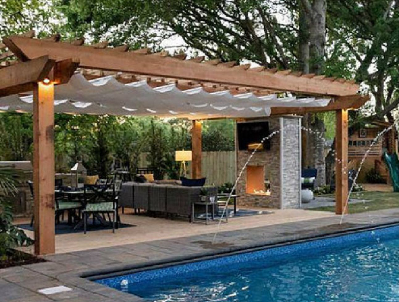 Pergola System Awnings Ontario Pergolas Terrace Top Structures Barrie