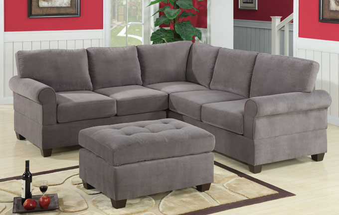 Sectional Sofa Corduroy Barron's Furniture And Appliance - Living Room Furniture