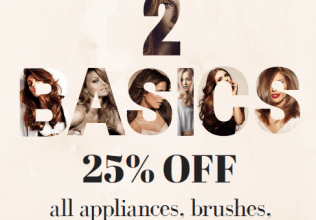 25% OFF all appliances, brushes, litersize shampoos and conditioners!