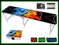 beer pong tables - flames